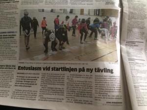 Tävlingen uppmärksammades i Hallandsposten. Fotograf: S Westermark